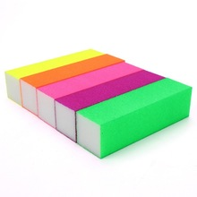 Fluorescent Color 4 Sides Nail Art Buffer Buffing Sanding Files Block