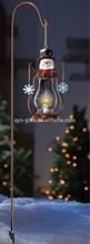 Popular nice hanging solar led lantern with cust snowmen