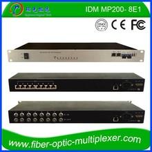 8E1 2Line Speed 100M Ethernet Dual SFP SNMP&WEB E1 over Fiber