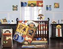 2015 Happy animal cartoons baby bedding set full bed hot sale jacquard online quilt shops