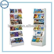 Holiday recycle cardboard magazine display rack