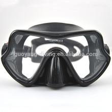 scuba diving black skirt silicone glasses frame metal masks