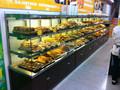 Apex supermercado/loja lateral única vitrine de padaria/pão armário de exposição