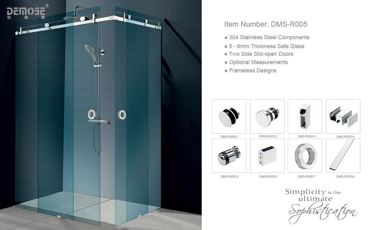 Nouveau design en verre sans cadre de porte de douche for Porte de douche sans cadre