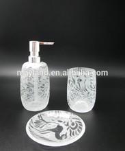 Glass bathroom accessory, lotion pump, Soap pump, tumbler