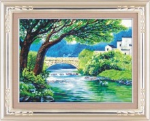 """""""A small bridge with the flowing stream"""" DIY Full Diamond Painting"""