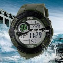 Big Dial OEM Order mens sports watch digital silicone black