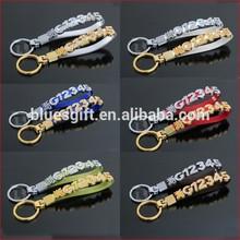 2014 fashion wholesale fashion rhinestone alphabet diy letter slide charm key chain