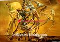 abstact figura do famoso artista de pintura a óleo da reprodução de salvador dali