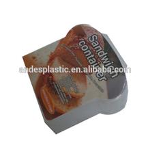 2015 new popular plastic box for sandwich