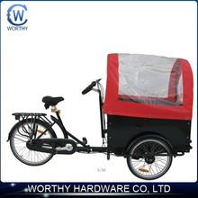 WORTHY cheap electric three wheel bike tricycle cargo bike adult 3 wheel bike front 2 wheel