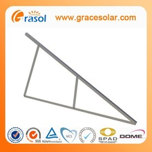 Components for the production of solar panels ground support solar panel mount