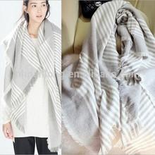 Tartan Scarf knit infinity scarf stripe shawl