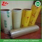 food stretch film PVC rolls ,food garde cling wrap ,clear packaging for food wrap, PVC cling film