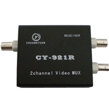 2 Channel chuangyuan video multiplexer coaxial cable transmission for analog camera