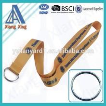 Customized heat transfer lanyard with key ring
