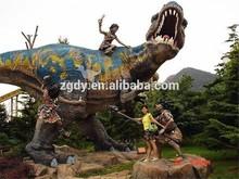Outdoor and indoor dinosaur sculpture for amusement park decoration
