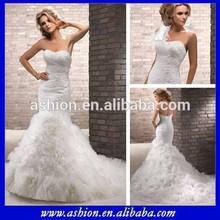We-0943 Phantasie gekräuselten rock meerjungfrau abnehmbar brautkleid hochzeit kleid marokkanischen hochzeitskleid