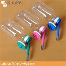 Blue Plastic Pet Dog Drinking Kit Hanging Water Fountain Bottle Head