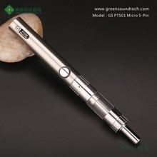 2015 GS PTS01 Kit ego passthrough vapor pen Micro 5Pin Passthrough battery accept paypal