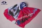 50silk 50cashmere printed scarf 70x200cm
