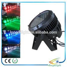 RGB mixing color disco stage light,Emitting Color par led rgbw,54x3w par can