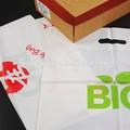 biodegradável cortou o punho saco
