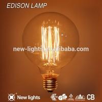 Antique Vintage Edison bulb Carbon filament light bulb ST64 , ST58 , A60/A19 , A70 , T45 , G80 , G95 ,G125