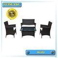 venda quente clássico moderno do sofá do rattan conjuntos de móveis para ambientes externos