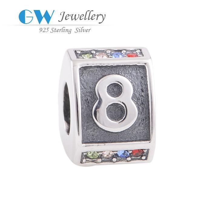 takı tasarımcısı 925 ayar gümüş takı toptan mektubu boncuk
