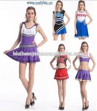Sexy Glee Cheerleader College Cheerios School Girl Fancy Dress Halloween Costume Uniform