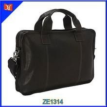 China factory top quality leather men bag black messenger bag