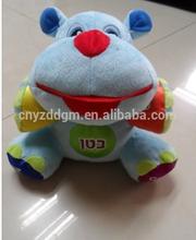 baby plush music hippo toy/baby electronic educational toy/custom plush baby toys