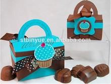 ดีการออกแบบกล่องกระดาษสี่เหลี่ยมช็อกโกแลตนม
