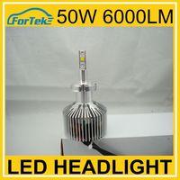 H1 super bright led lights car headlight 6000LM 50w phillip chips