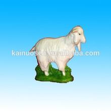 hand made white ceramic goat