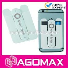 Custom design non-toxic silkscreen printed silicone holder wallet