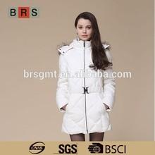 2015 russian winter coat long winter white coat/winter coat fur hood ladies