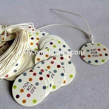 uv finish round printed paper hang tag (M-HT178)