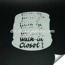 0.12mm water proof vinyl heat seal label for 5 gallon cap