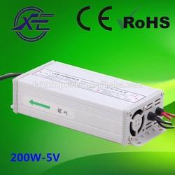200w 40a 5v led driver for led light power supply