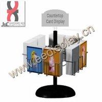 single tier rotated greeting card display stand / gift card display rack