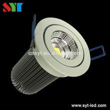 SYT Lighting Aluminum SAA EMS CE dimmabel cob aluminum high quality 12w led ceiling down light