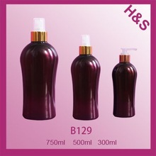 B129 750ml 500ml 300ml empty clear pet plastic sprayer bottles for cosmetic