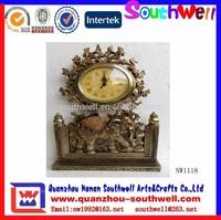 Resin Clock With Elephant Figurine