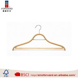 china wholesale market agents with velvet inside bamboo pant hanger