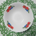 billige Schnittkante chinesische suppe salatschüsseln keramik mit blume aufkleber