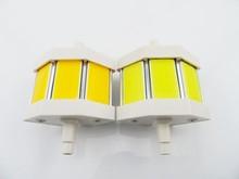 78mm COB led r7s light led light78mm COB led r7s light led plug light deep amber color