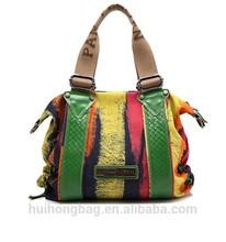 2014 new design fashion women PU tote vintage leather bag