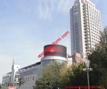 P10mm outdoor electronic waterproof arc led billboards shape